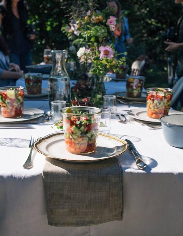 décoration fleurie de table