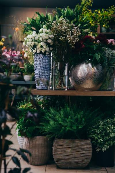 décoration pot en osier