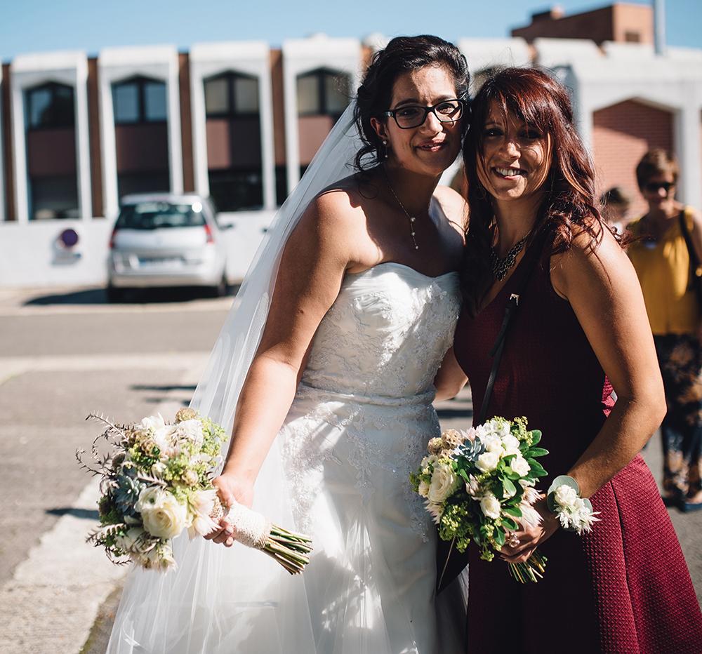 bouquet mariée et témoin